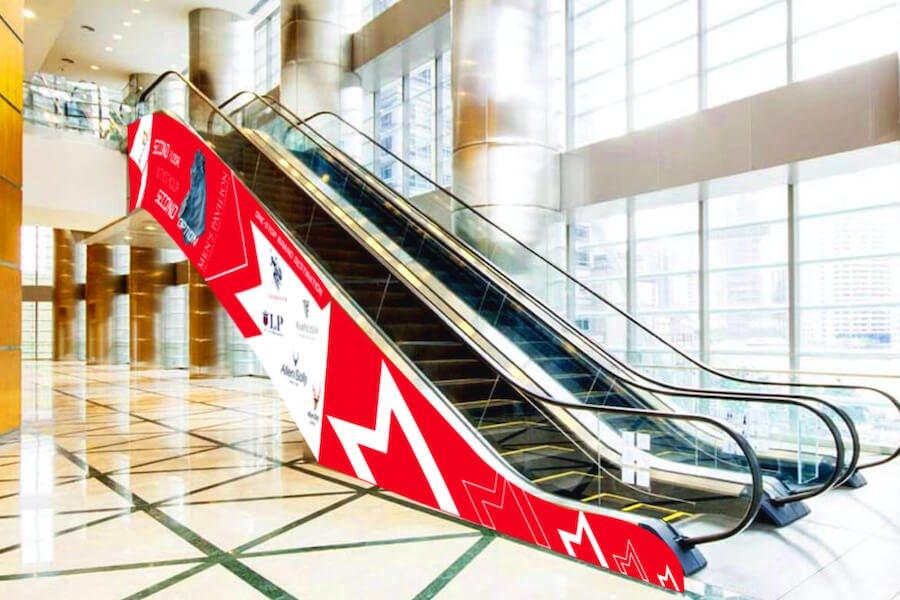 Escalator Branding - Mens Pavilion