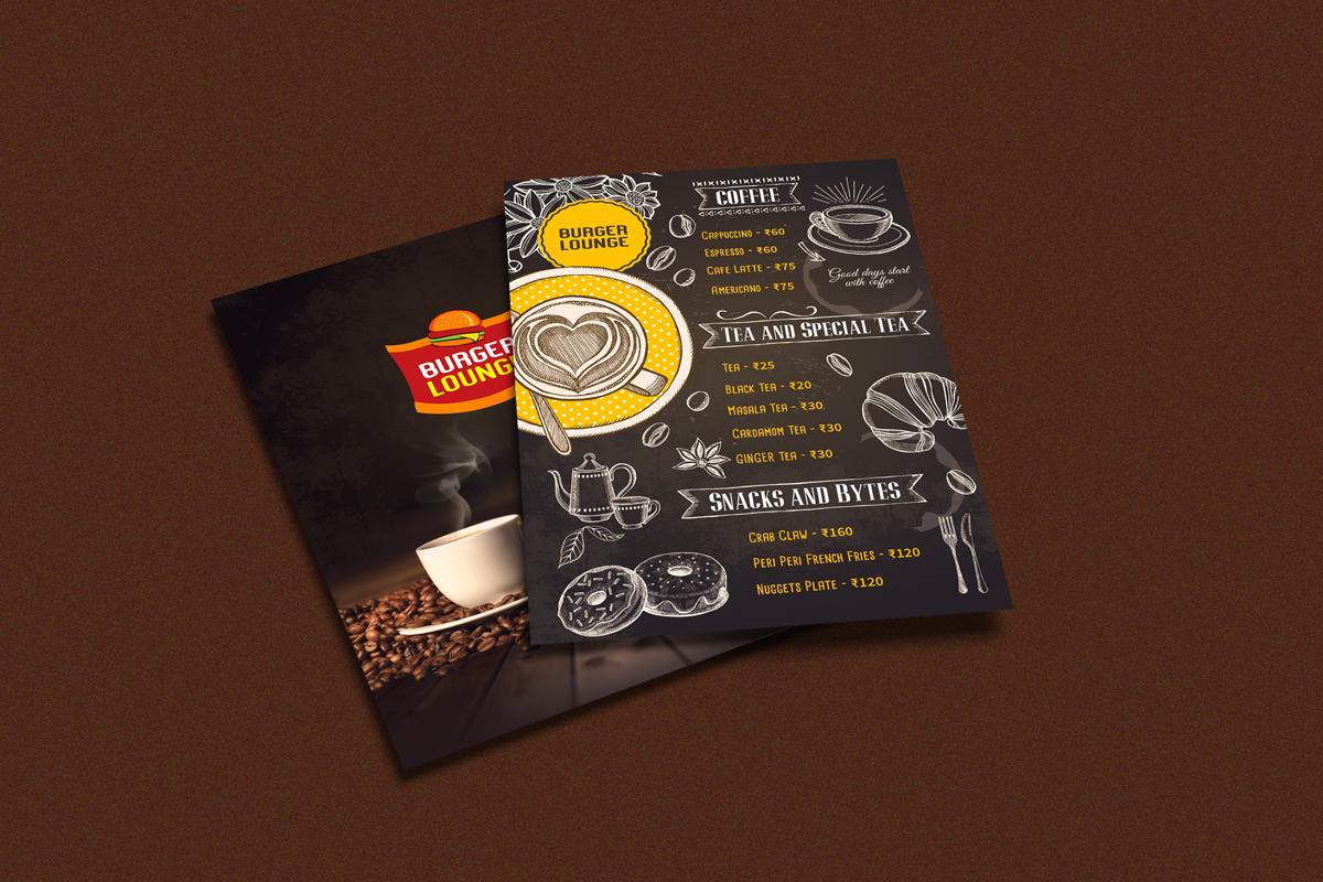 Burger Lounge Menu Card Design