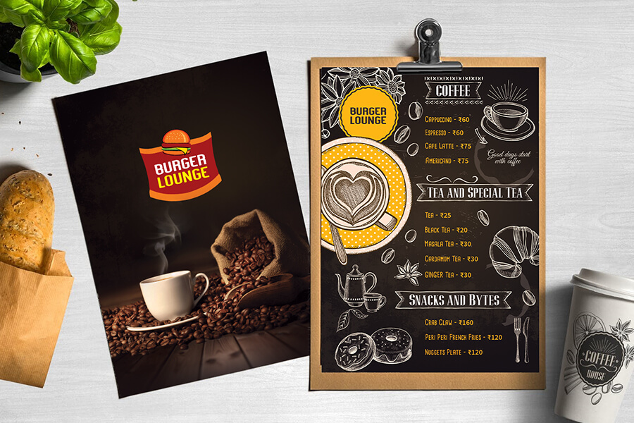 burger lounge menu card by quadcubes digital